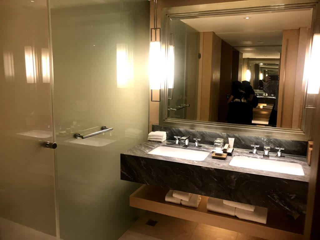 洗面台×2 左側はトイレ