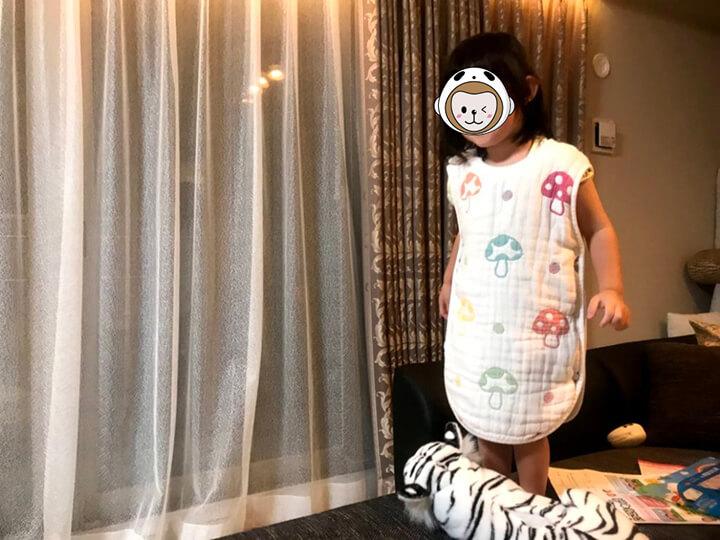ホッペッタ着用 3歳児