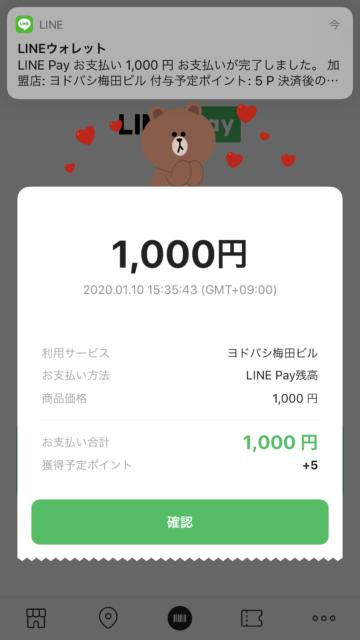 リンクス梅田で平日クーポン使用